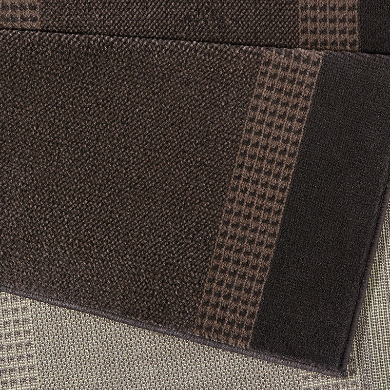 design velours teppich band braun teppiche kurzflor. Black Bedroom Furniture Sets. Home Design Ideas
