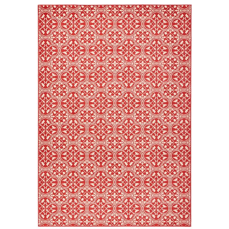 Designer Velours Teppich Pattern Koralle Creme  102414