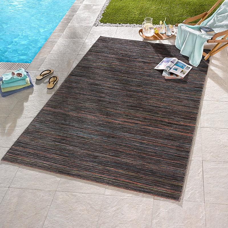 design outdoorteppich lotus braun orange blau melliert 102447 teppiche flachgewebe teppiche. Black Bedroom Furniture Sets. Home Design Ideas