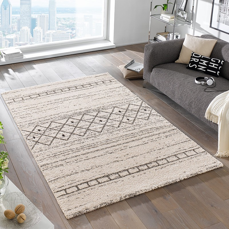 design hochflor teppich shade creme teppiche hochflor teppiche mint line. Black Bedroom Furniture Sets. Home Design Ideas