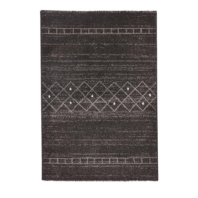 Design Hochflor Teppich Shade Taupe Braun Grau Teppiche