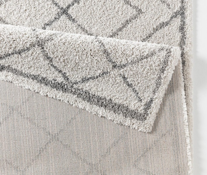 design velours teppich hochflor loft creme grau teppiche hochflor teppiche mint line. Black Bedroom Furniture Sets. Home Design Ideas