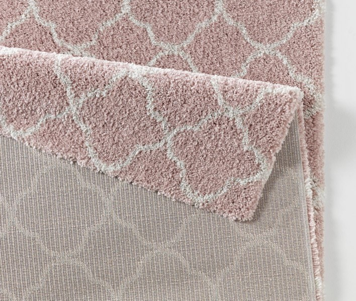 design velours teppich hochflor luna rosa creme teppiche hochflor teppiche mint line. Black Bedroom Furniture Sets. Home Design Ideas