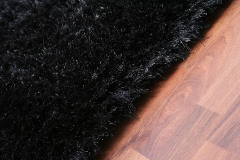 Luxury Hochflor Teppich Schwarz  eBay