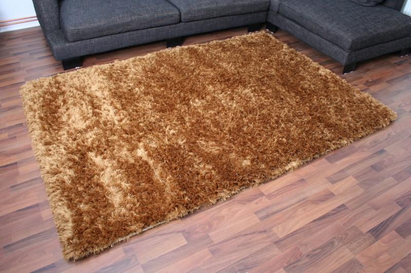 Luxury Hochflor Teppich Gold  eBay