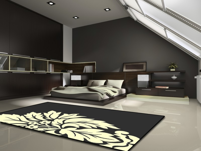 velours teppich fire schwarz ebay. Black Bedroom Furniture Sets. Home Design Ideas