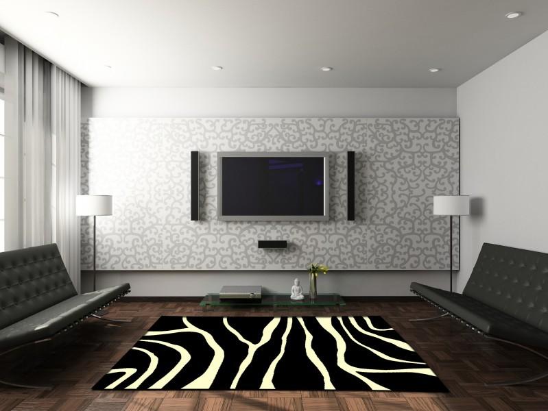 zebra wohnzimmer:Velours Design Teppich Zebra like Teppiche Kurzflor Teppiche Design