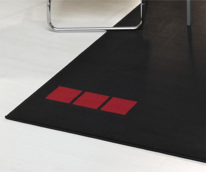 Velours Teppich Nes Schwarz Rot Weiß  eBay