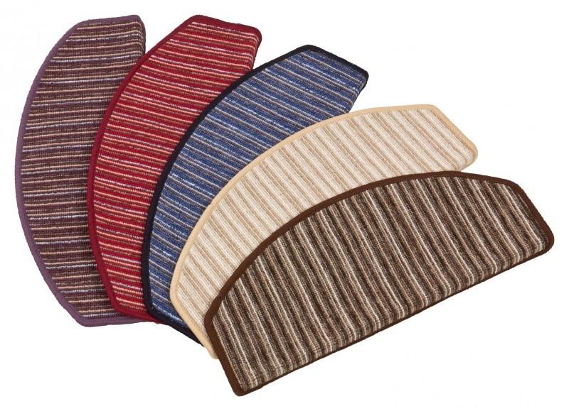 Hochwertige Stufenmatte 15er Set  StufenTeppich Streifen