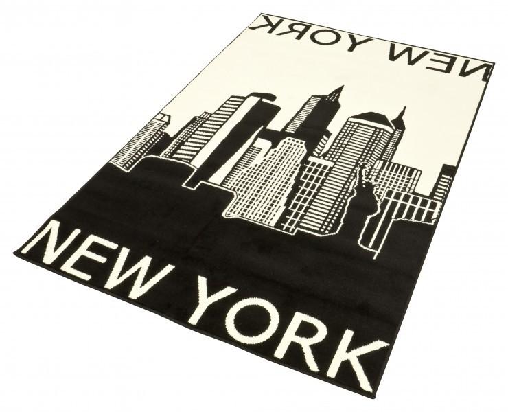 Design Teppich New York 140×200 cm Teppiche Kurzflor