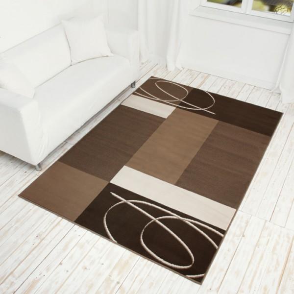 Velours Design Teppich Tony beige  braun  eBay