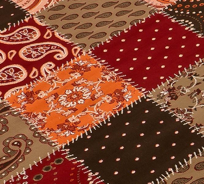 Design Teppich Patchwork rot  terra  braun  eBay