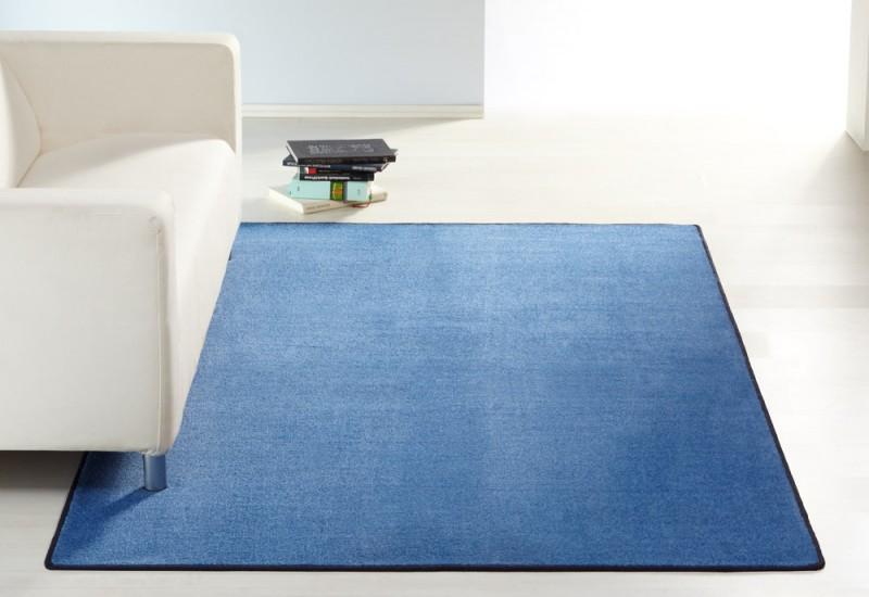 Designer Teppich Nasty Floor  Kurzflor Blau Teppiche
