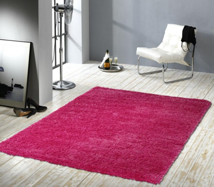 langflor shaggy hochflor teppich alpaka pink ebay. Black Bedroom Furniture Sets. Home Design Ideas
