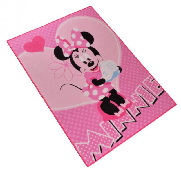 kinder teppich disney minnie mouse flower 95x133 cm rosa ebay. Black Bedroom Furniture Sets. Home Design Ideas
