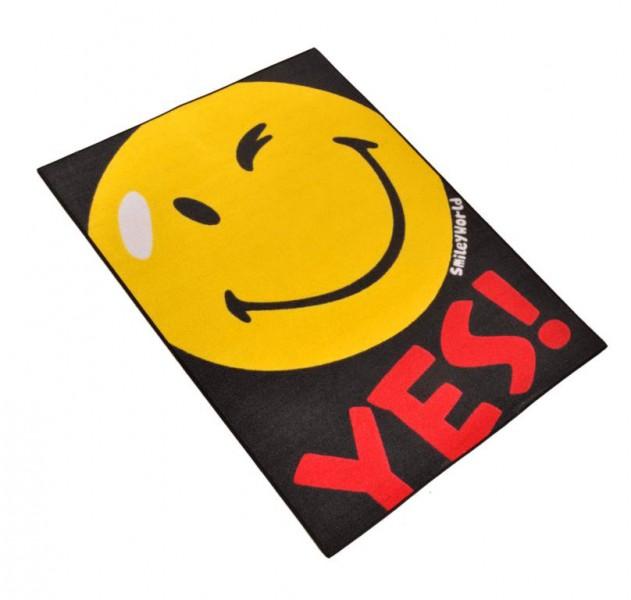 Kinder Teppich Smiley Yes 95×133 Cm Spiel Und Kinderteppiche