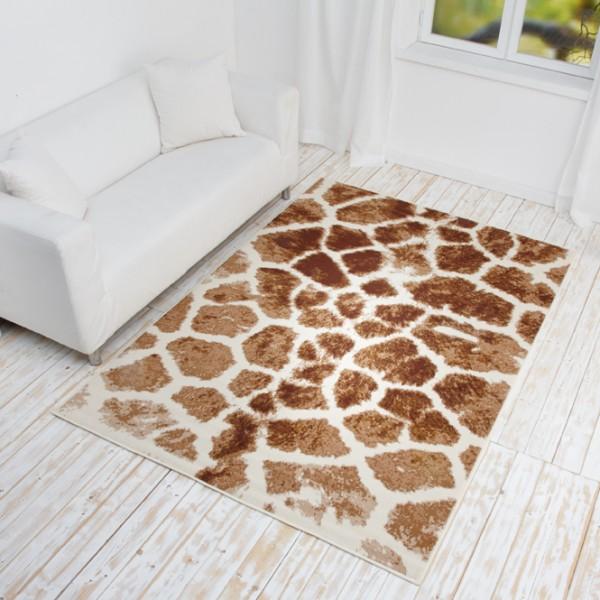 designer teppich safari line kurzflor teppich mit tierfell muster tiger etc. Black Bedroom Furniture Sets. Home Design Ideas