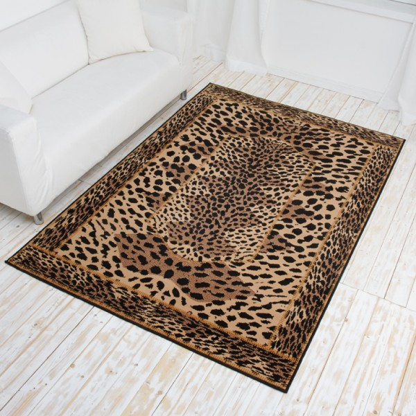 designer teppich safari line kurzflor teppich mit tierfell muster tiger gira ebay. Black Bedroom Furniture Sets. Home Design Ideas