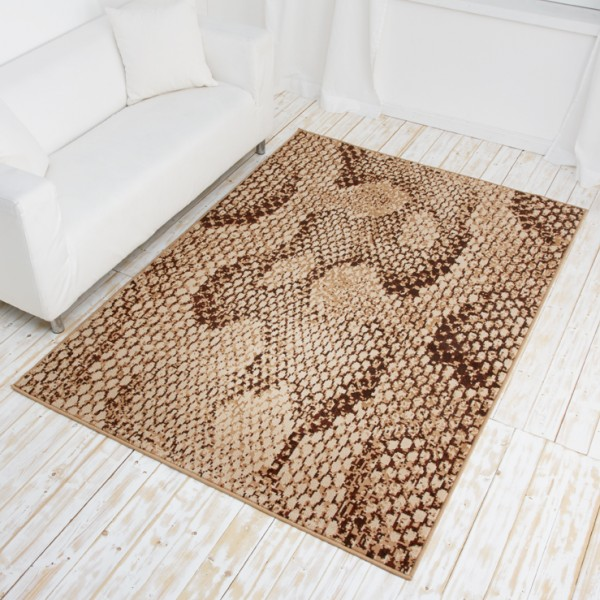 Designer Rug Safari Line Short Pile Carpet with Animal