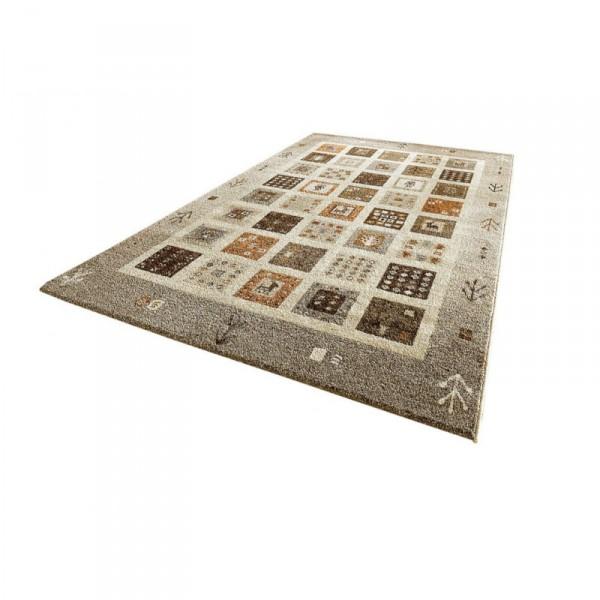 designer teppich himalaya teppich mit kelim musterung beige oder rot ebay. Black Bedroom Furniture Sets. Home Design Ideas