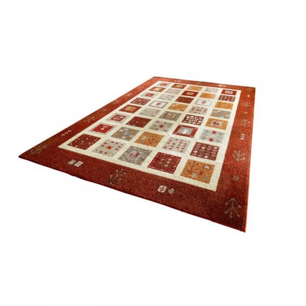 Designer Teppich Himalaya  Teppich mit Kelim Musterung