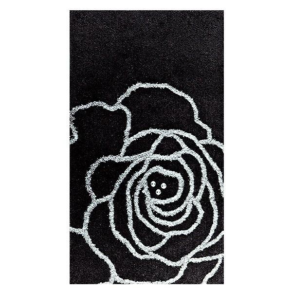 premium badematte crystal rose mit swarowski elementen ebay. Black Bedroom Furniture Sets. Home Design Ideas