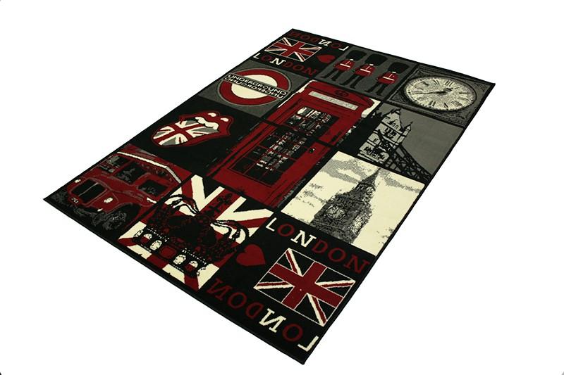 designer teppich city flair kurzflor verschiedene motive 140x200 cm ebay. Black Bedroom Furniture Sets. Home Design Ideas