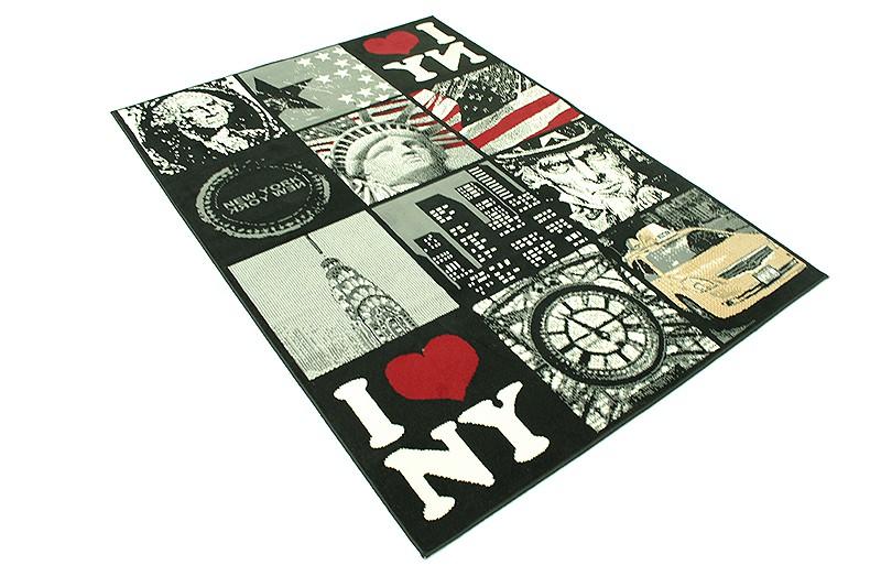 designer teppich city flair kurzflor verschiedene motive. Black Bedroom Furniture Sets. Home Design Ideas