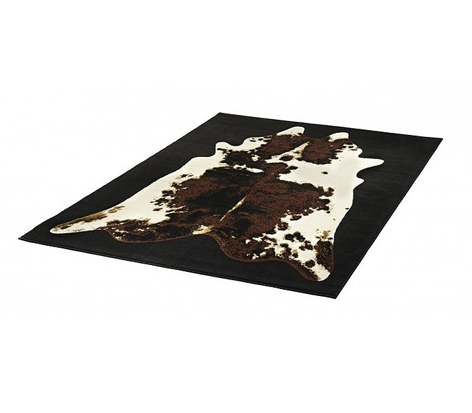 designer teppich muuh kuhfell muster kurzflor ebay. Black Bedroom Furniture Sets. Home Design Ideas