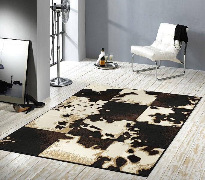 Designer Teppich Muuh!  Kuhfell Muster Kurzflor Teppiche
