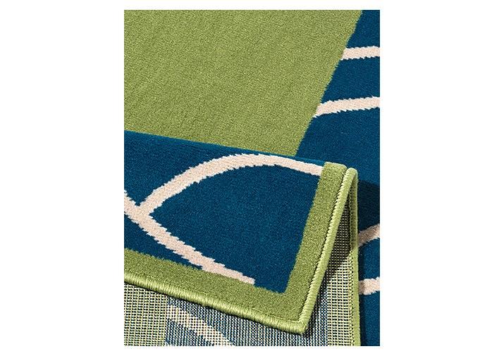 Teppich grün blau  Designer Teppich Ariba | Kurzflor grün blau 190x280 cm | eBay