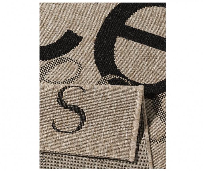 flachgewebe design teppich love peace happiness sisal optik grau 160x230 cm ebay. Black Bedroom Furniture Sets. Home Design Ideas