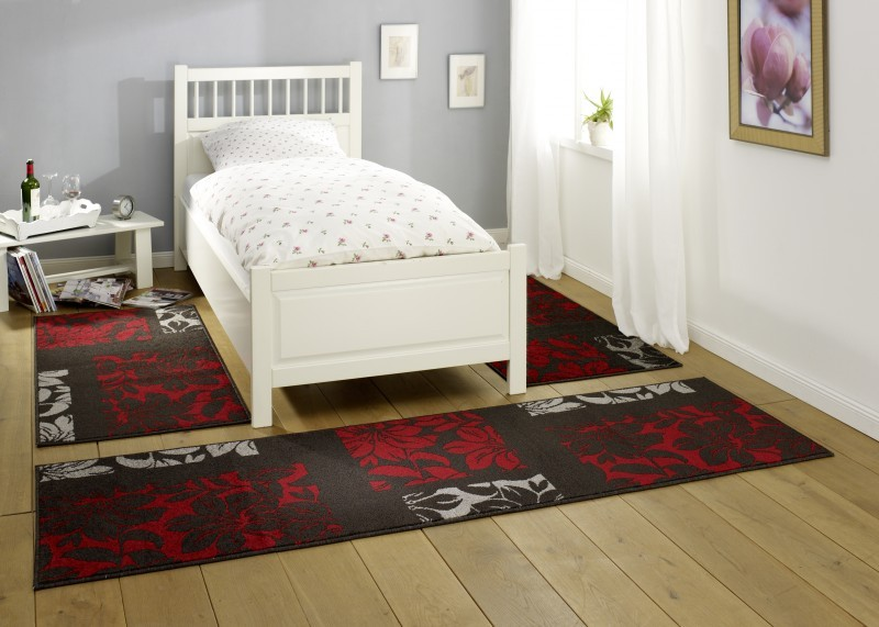 design bettumrandung planta dunkelbraun rot grau 3teilig bettumrandungen. Black Bedroom Furniture Sets. Home Design Ideas