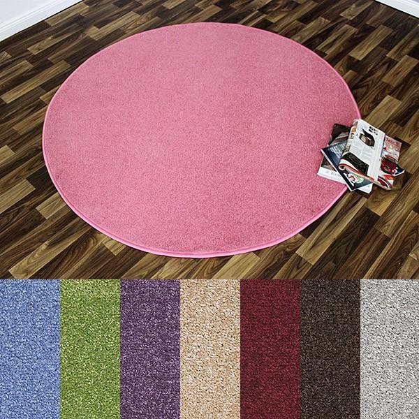 nasty floor kurzflor teppich rund verschiedene farben. Black Bedroom Furniture Sets. Home Design Ideas