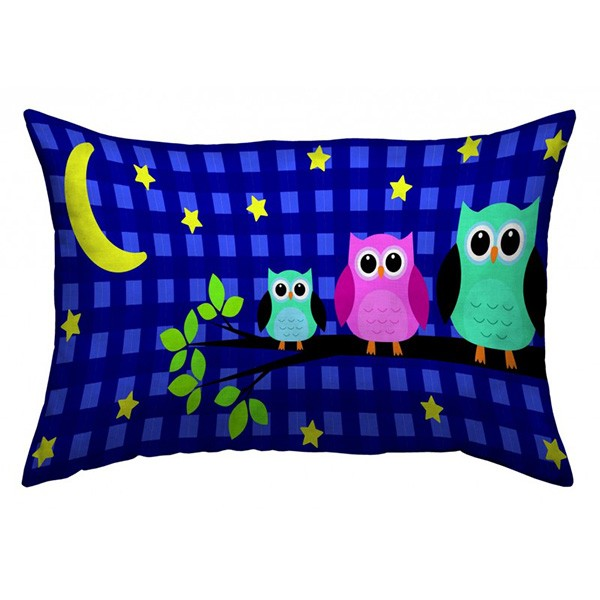 deko kissen 40x60 cm owls night 101965 deko kissen. Black Bedroom Furniture Sets. Home Design Ideas