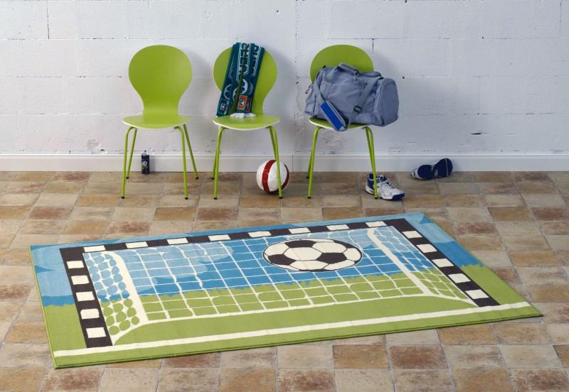 Design Velours Teppich Fußball netz 140×200 cm  102046